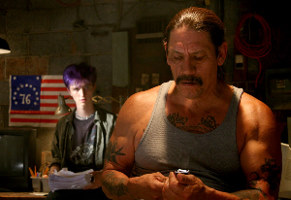 Eyeborgs - Luke Eberl and Danny Trejo in EYEBORGS