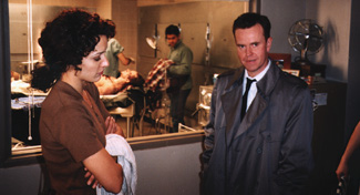 Jennifer Beals and Steve Hytner